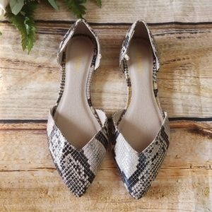 Old Navy Snake Print D'Orsay Pointed Flat Shoes